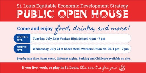 STL Equitable Economic Development Strategy Open Houses July 23 and 24
