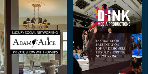 Exclusive luxury brands fashion show for elite socials at Scotland