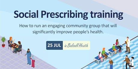 Social Prescribing training tickets
