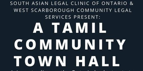 SALCO &  WSCLS Present: A Tamil Community Town Hall on Legal Aid Cuts tickets