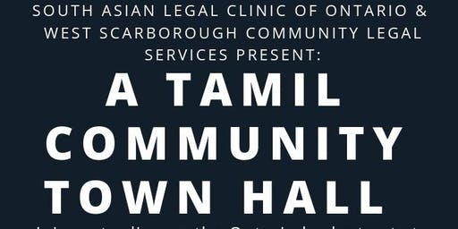 SALCO &  WSCLS Present: A Tamil Community Town Hall on Legal Aid Cuts