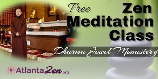 Zen Meditation Class at Dharma Jewel Monastery Atlanta