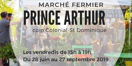 MARCHÉ FERMIER PRINCE ARTHUR billets