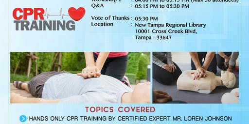 Hands Only CPR training by Loren Johnson from Hillsborough County Fire Rescue