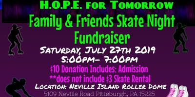 HOPE for Tomorrow Skate Party Fundraiser