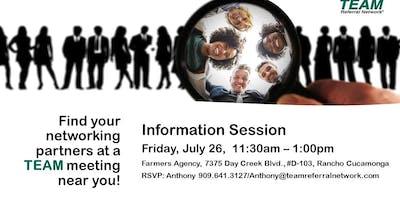 Rancho Cucamonga Information Meeting