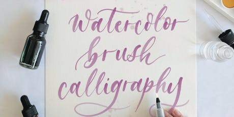 Intro to Watercolor Brush Calligraphy tickets