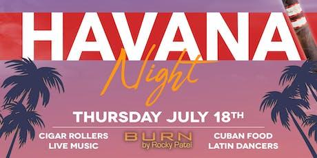 Havana Night at Burn tickets