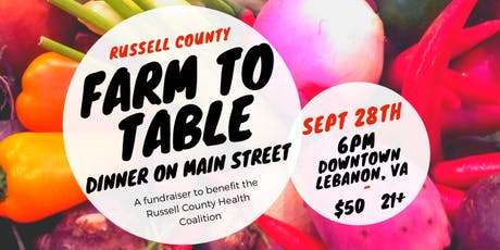 Russell Co. Farm To Table Dinner tickets