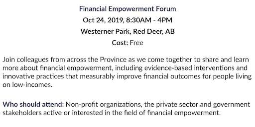 Alberta Financial Empowerment Forum -Bus Transportation to Forum