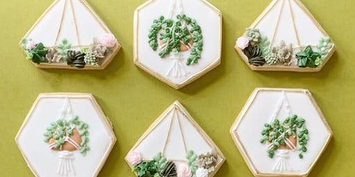 Terrarium & Succulent Cookie Decorating