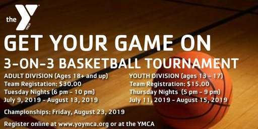 """YONKERS YMCA - """"GET YOUR GAME ON"""" 3-ON-3 BASKETBALL (YOUTH) - TOURNAMENT"""