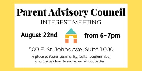 Petra Preschool's Parent Advisory Council Interest Meeting tickets