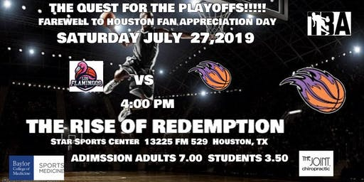 HOUSTON LOS FLAMINGOS vs TEXAS RESSURECTION