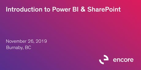 Introduction to Power BI & SharePoint tickets