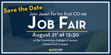Jason Crow's CO-6 Job Fair tickets