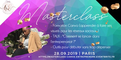 Masterclass : Formation Canva & TALK Entrepreneuriat