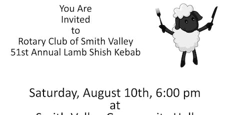 Rotary Club of Smith Valley's 51st Annual Lamb Shish Kebab Dinner tickets