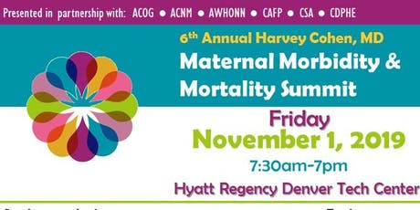 Harvey Cohen MD Maternal Morbidity Mortality Summit EXHIBITOR/SPONSOR tickets