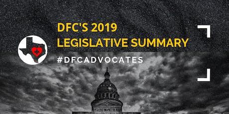 DFC's 2019 Legislative Summary #DFCAdvocates tickets