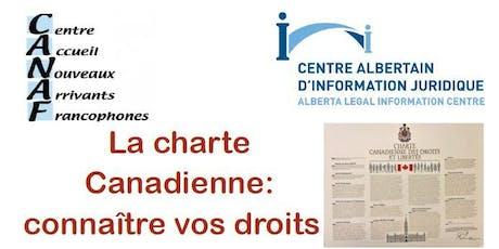 """Atelier CANAF/AJEFA """"La charte Canadienne: connaître vos droits"""" tickets"""