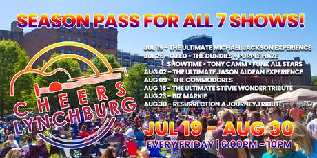SEASON PASS - CHEERS LYNCHBURG (Includes All 7 Concerts) tickets