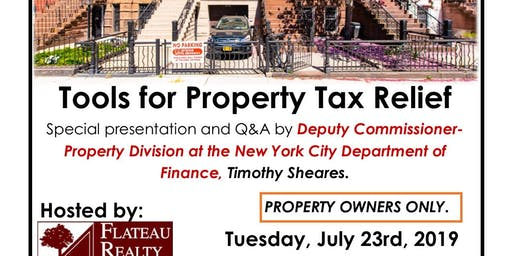 Tools for Property Tax Relief