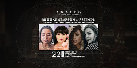 Brooke Simpson & Friends at Analog tickets