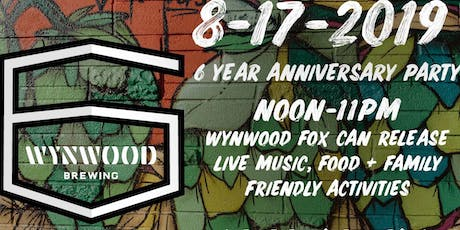 Wynwood Brewing Company's 6 Year Anniversary Party   tickets