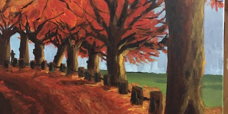 PNW Fall Time Paint & Sip Night - Art Painting, Drink & Food tickets