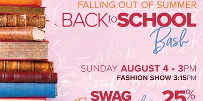 Falling Out of Summer Back to School Bash!