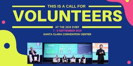 Volunteer @ 2019 SVIEF 硅谷高创会志愿者招募 tickets