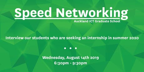 SPEED NETWORKING - INTERNSHIPS SUMMER SEMESTER 2019/2020 tickets