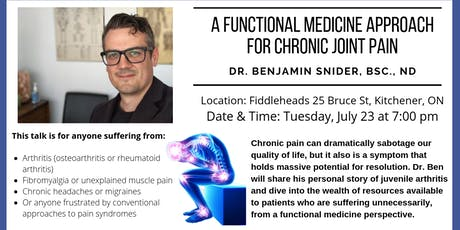 A Functional Medicine Approach for Chronic Joint Pain tickets