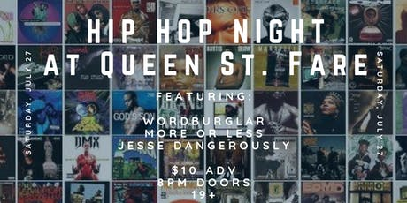Hip Hop Night at Queen St. Fare tickets