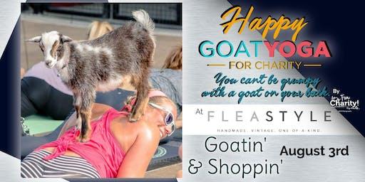 Happy Goat Yoga-For Charity: Goatin' & Shoppin' at Flea Style