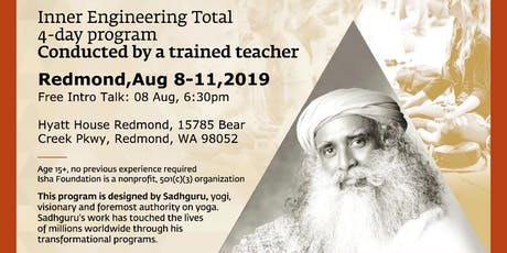 Inner Engineering Total - Technologies for Wellbeing (Yoga and Meditation) August 2019 tickets