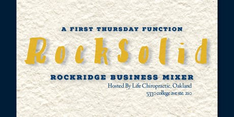 RockSolid: Monthly Business Mixer November tickets