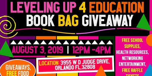Leveling Up For Education Bookbag Giveaway