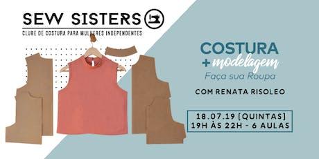 Sew Sisters: Módulo II Intermediário Costura + Modelagem - Faça sua Roupa ingressos