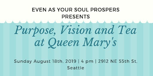 Purpose, Vision and Tea at Queen Mary's