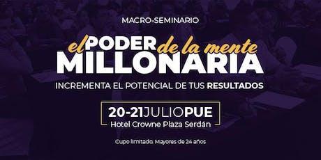 El Poder de la Mente Millonaria - Puebla entradas