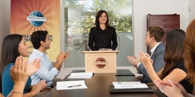 Oratory Authority Toastmasters Club Public Speaking Meeting