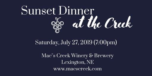 Sunset Dinner at the Creek - July 2019