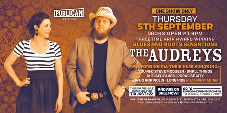 The Audreys LIVE at Publican, Mornington! tickets