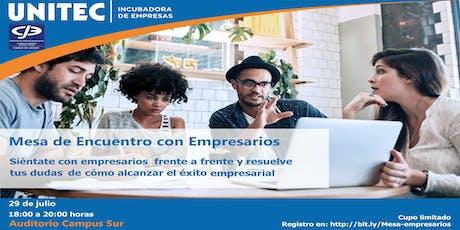 Mesa de Encuentro con Empresarios entradas