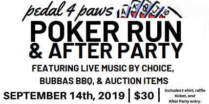 Pedal 4 Paws Poker Run & After Party