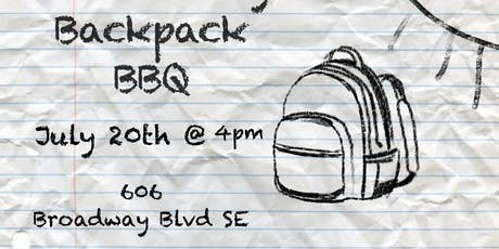 Community Backpack BBQ tickets