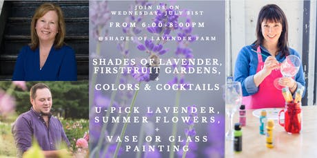 Shades of Lavender: U-Pick, Summer Flower Arranging, & Glassware Painting! tickets
