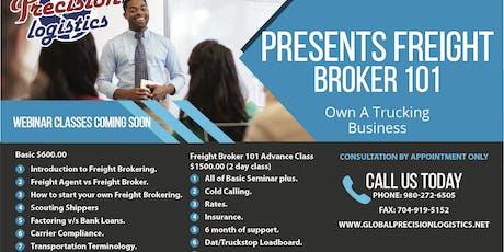 Freight Broker 101 Advance 2 day Seminar Tickets, Sat, Sep